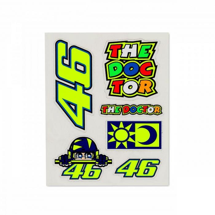 Naklejki VR46 Valentino Rossi SET małe