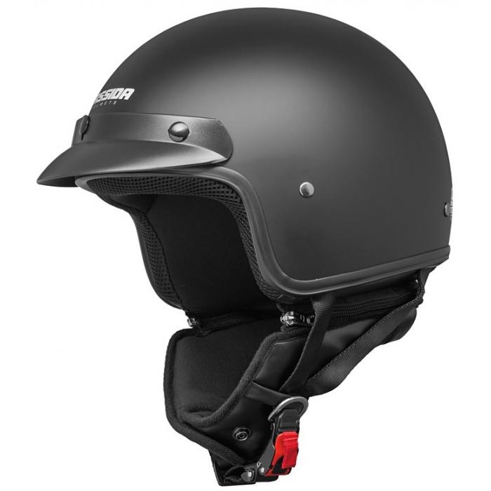 Otwarty kask motocyklowy Cassida Police czarny matowy