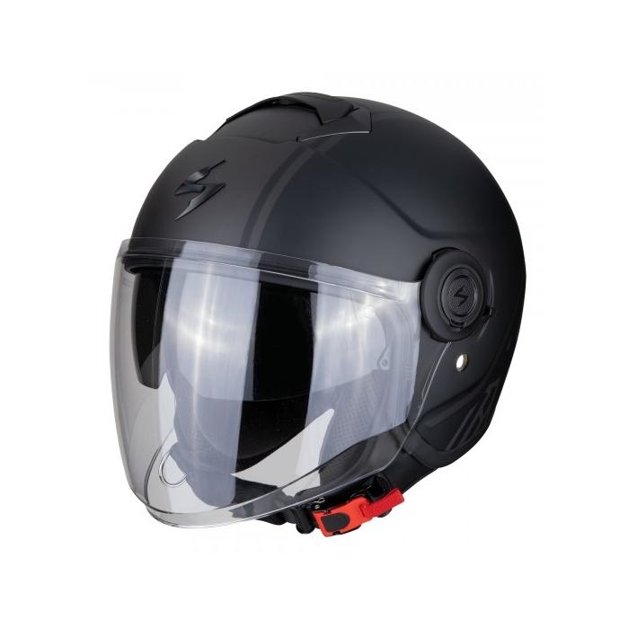 Otwarty kask motocyklowy Scorpion EXO-CITY Avenue czarno-srebrny