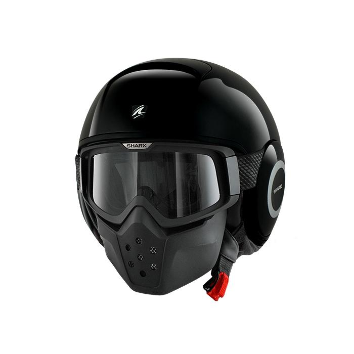 Otwarty kask motocyklowy SHARK DRAK Blank czarny połysk