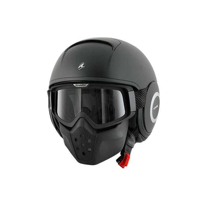 Kask motocyklowy SHARK DRAK Blank Mat czarny matowy