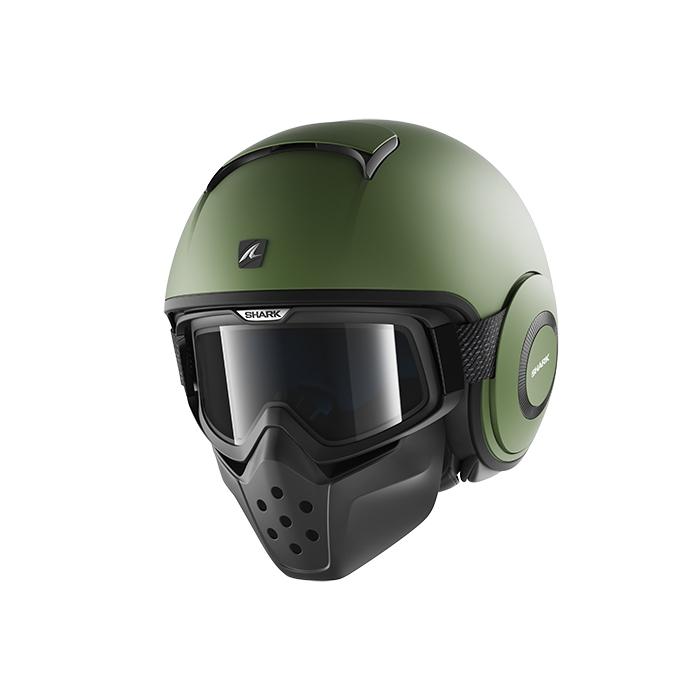 Kask motocyklowy SHARK DRAK Blank Mat zielony