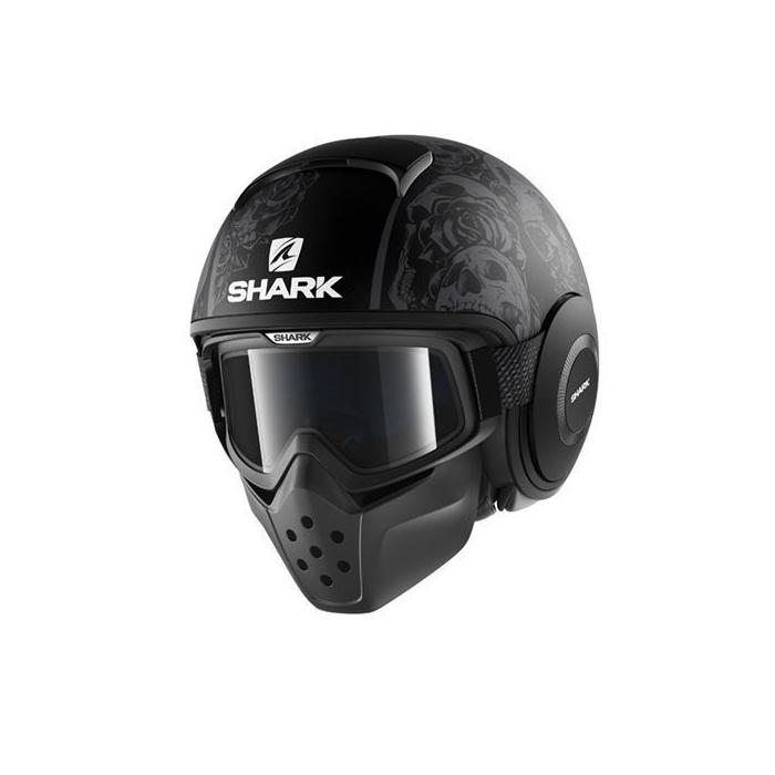 Kask motocyklowy SHARK DRAK Sanctus Mat czarno-szary
