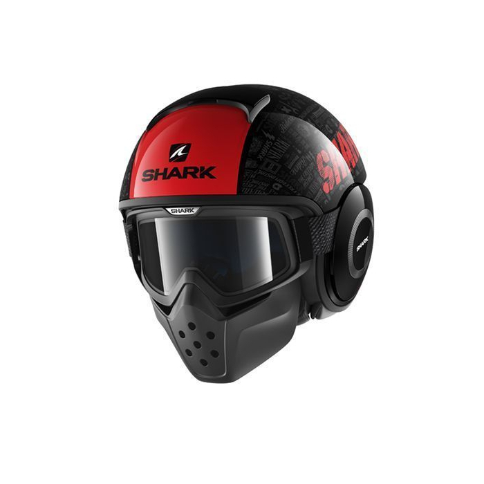 Kask motocyklowy SHARK DRAK Tribute czarno-czerwono-szary