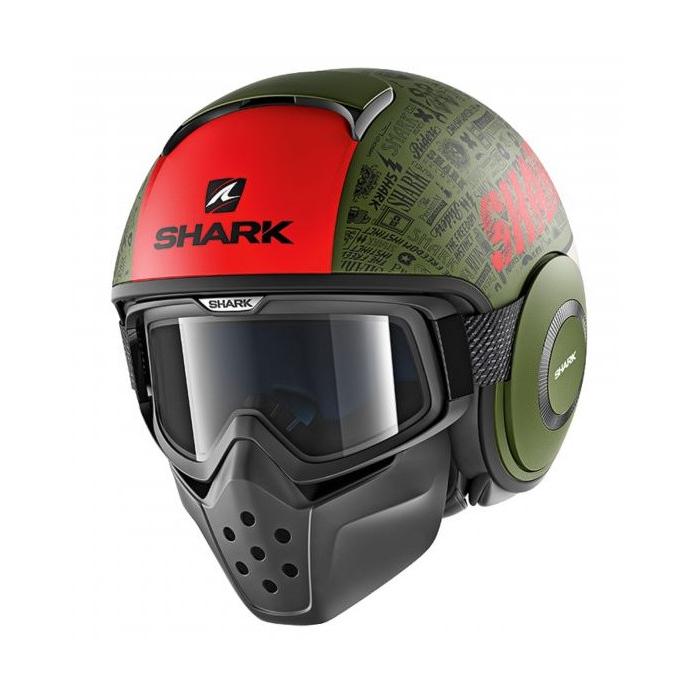 Kask motocyklowy SHARK DRAK Tribute Mat czarno-zielono-czerwony