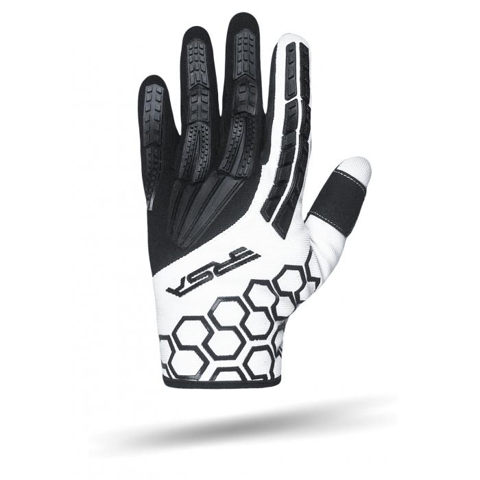 Rękawice motocyklowe RSA MX EVO czarno-białe