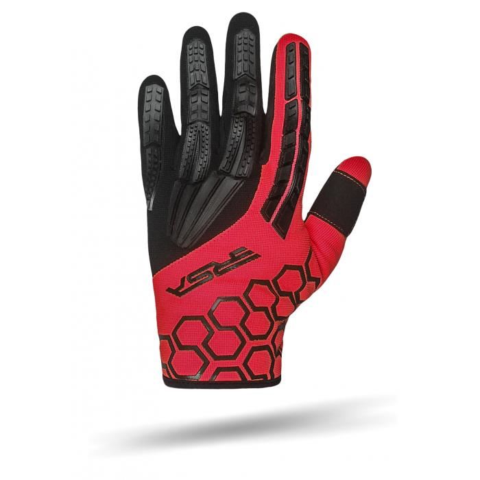 Rękawice motocyklowe RSA MX EVO czarno-czerwone wyprzedaż