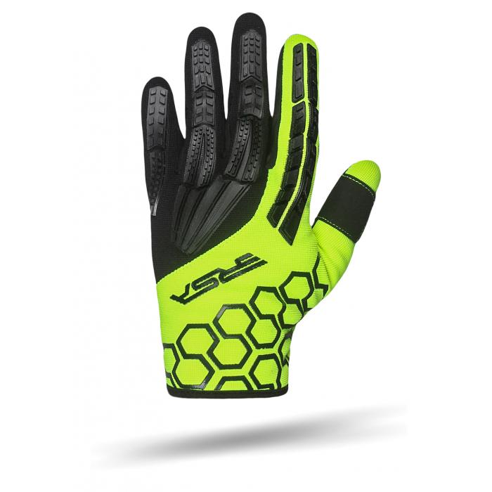 Rękawice motocyklowe RSA MX EVO czarno-fluo żółte