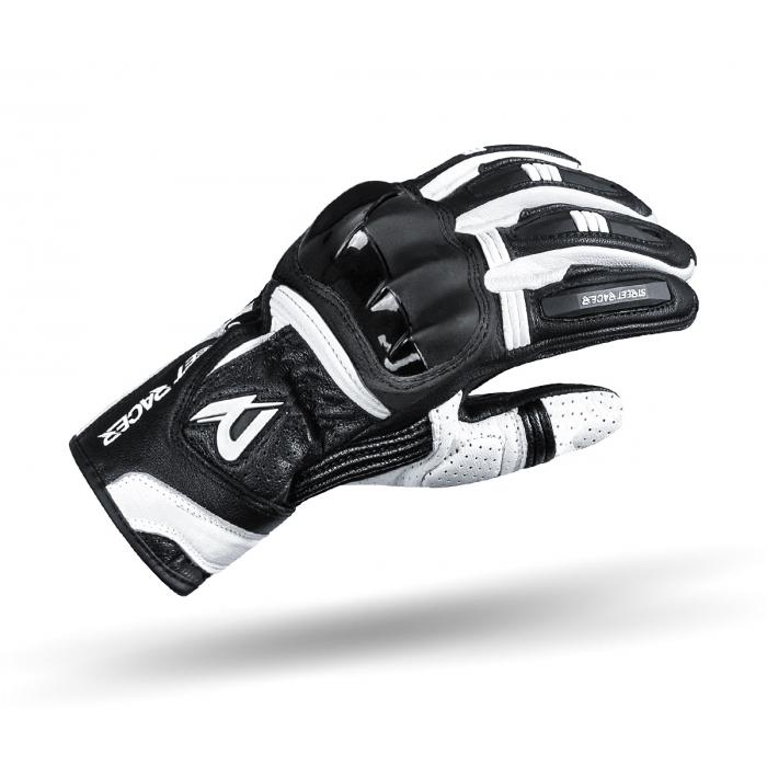 Rękawice motocyklowe Street Racer GPR czarno-białe