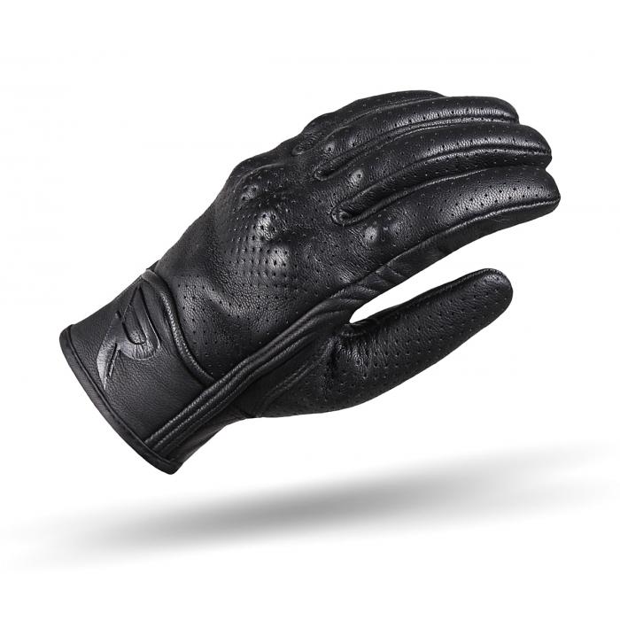 Rękawice motocyklowe Street Racer Striker czarne perforowane