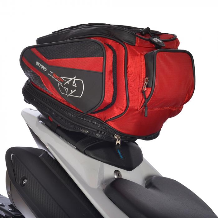 Tankbag i torba na siodło Oxford T30R Time Tank 'n' Tailer czarno-czerwony