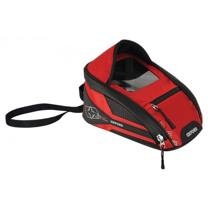 Tankbag na motocykl Oxford M2R czarno-czerwony