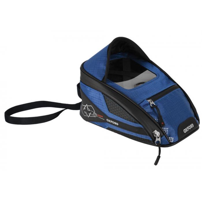 Tankbag na motocykl Oxford M2R czarno-niebieski