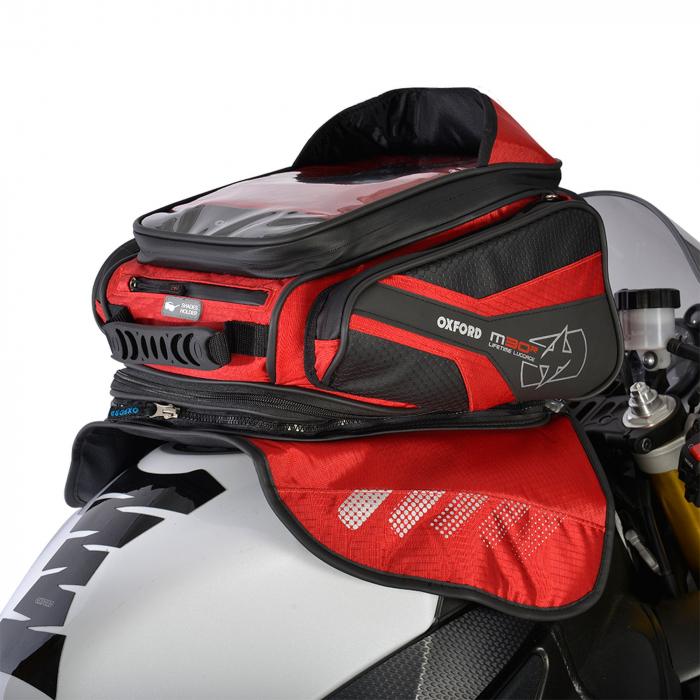 Tankbag na motocykl Oxford M30R czarno-czerwony