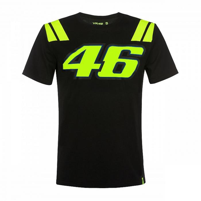Koszulka VR46 Valentino Rossi 46 THE DOCTOR czarna