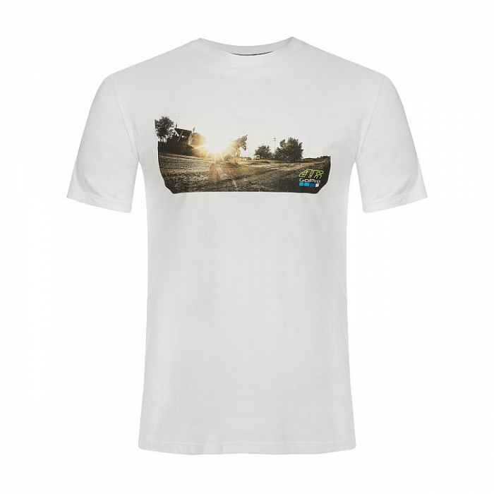 Koszulka VR46 Valentino Rossi MOTOR RANCH GOPRO biała