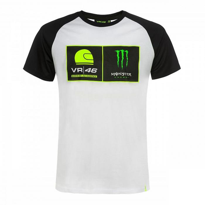 Koszulka VR46 Valentino Rossi RIDERS ACADEMY MONSTER biała