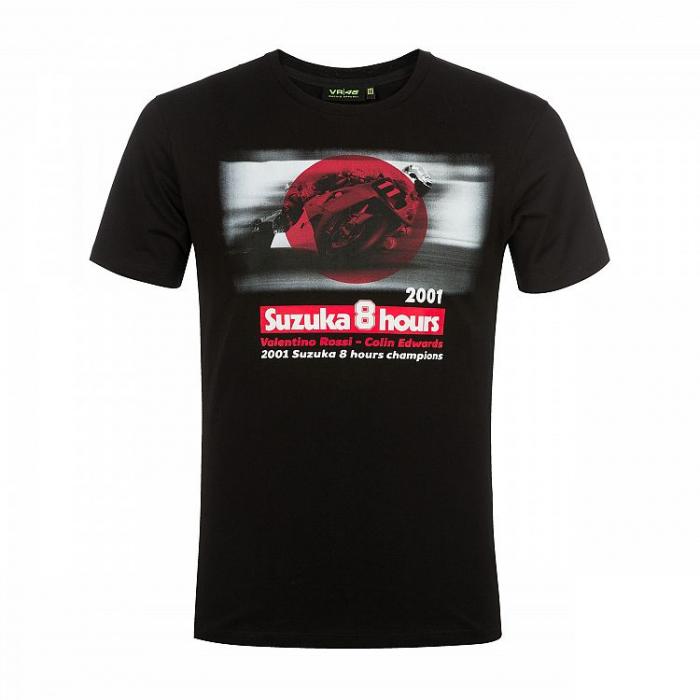 Koszulka VR46 Valentino Rossi SUZUKA 8 HOURS czarna