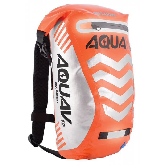 Plecak wodoodporny Oxford Aqua V12 Extreme Visibility fluo pomarańczowy