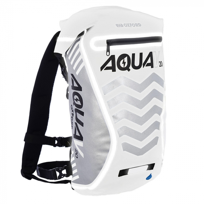 Plecak wodoodporny Oxford Aqua V20 Extreme Visibility biało-szary