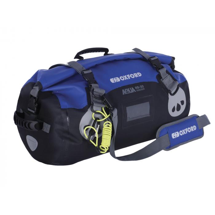 Torba wodoodporna Oxford Aqua RB-30 Roll Bag czarno-niebieska