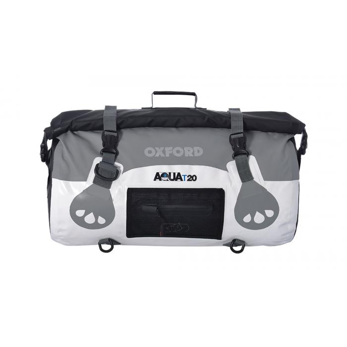 Vodotěsný vak Oxford Aqua20 Roll Bag bílo-šedý