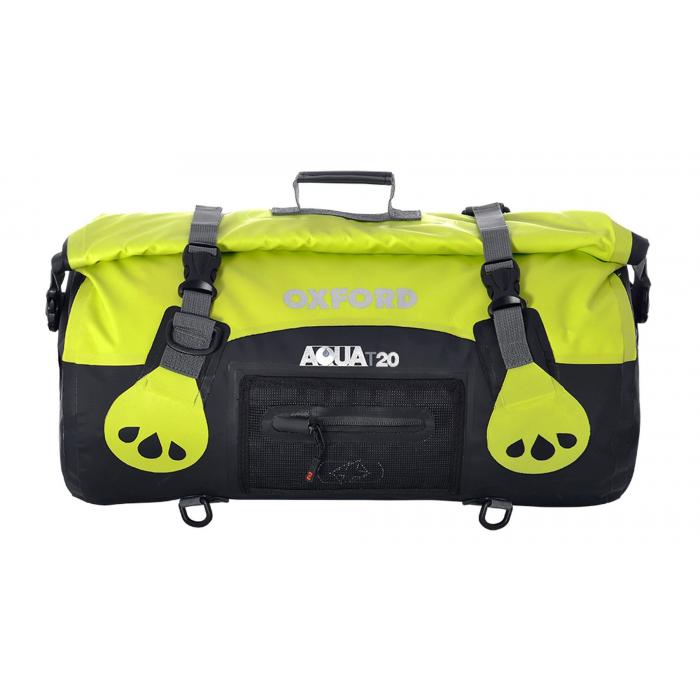 Torba wodoodporna Oxford Aqua20 Roll Bag czarno-fluo żółta