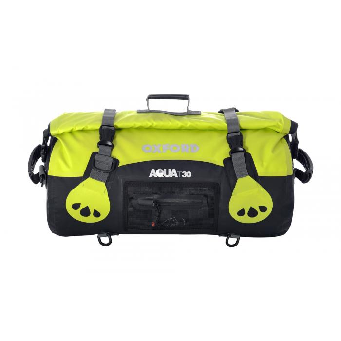 Torba wodoodporna Oxford Aqua30 Roll Bag czarno-fluo żółta