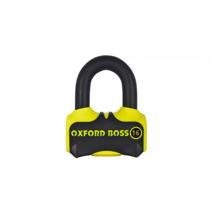 Blokada hamulca tarczowego Oxford Boss 16 żółto-czarna