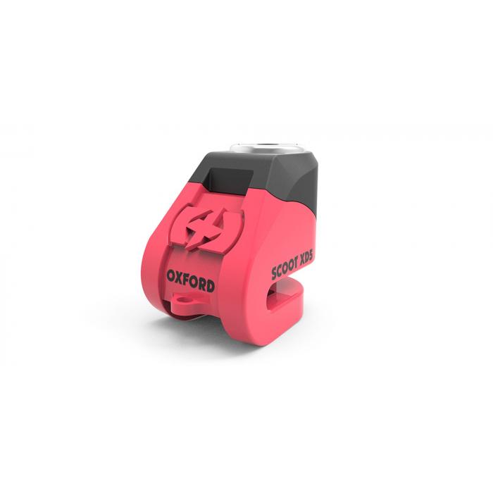 Blokada hamulca tarczowego Oxford Scoot XD5 różowo-czarna