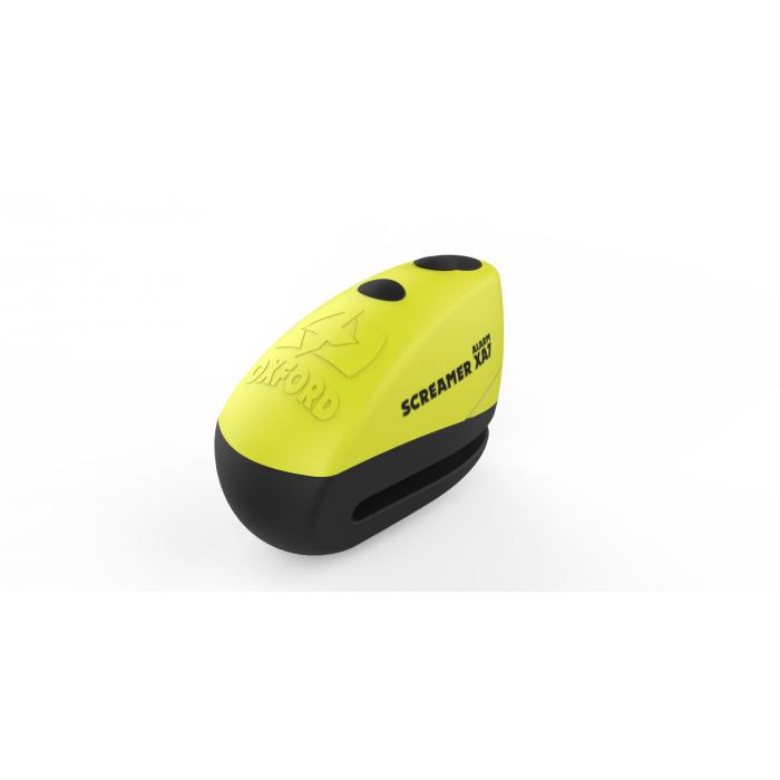 Blokada hamulca tarczowego Oxford Screamer XA7 żółto-czarna