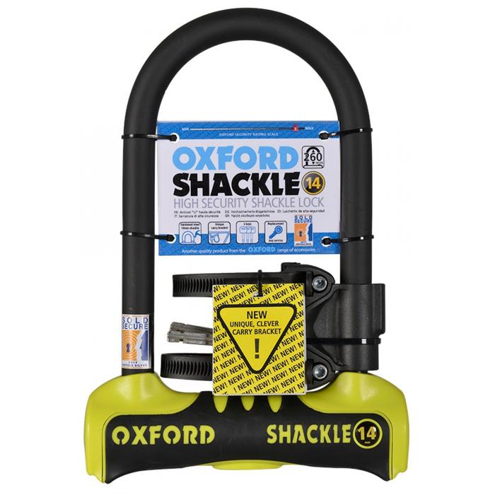 Zamek Oxford U profil Shackle 14 żółto-czarny